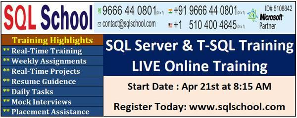 Sql developer training at sql school training institute -