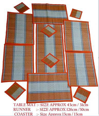 Trendsetting handwoven maddur table mat corporate gifts