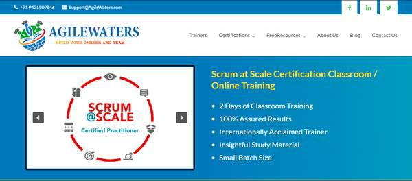 Online scrum at scale certification training courses in