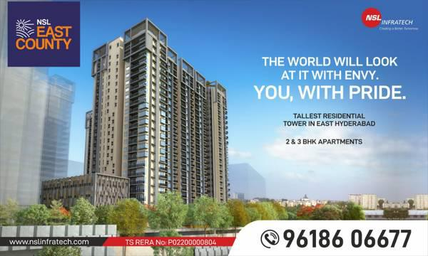 High rise apartments in east hyderabad – nsl east county -