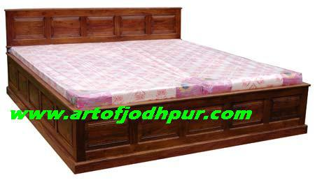 Indian furniture storage king double beds