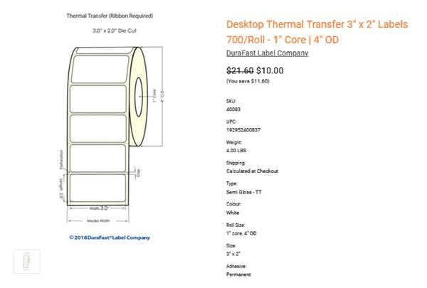 Get blank thermal transfer labels on sale flat 10% off -