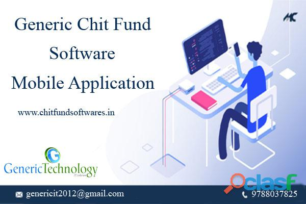 Generic chit fund software mobile application