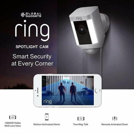 Ring spotlight cam mount hd security camera | global gadgets