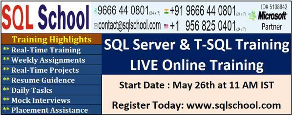 Sql server & t-sql developer training at sql school