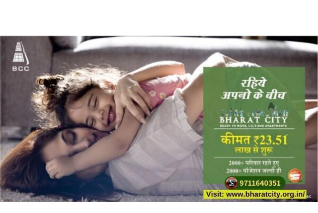 Book apartments in bharat city starting from 18 lacs*