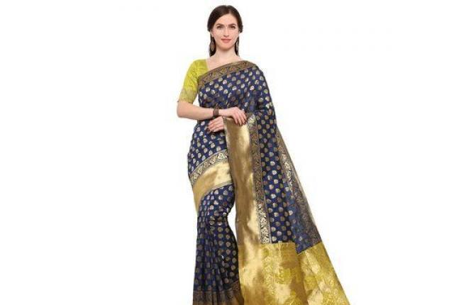 Buy brocade silk sarees online in india