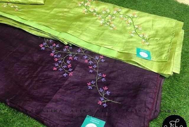 Tussar silk sarees - daily wear