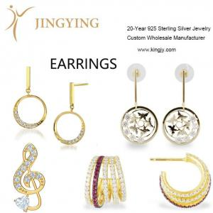 925 sterling silver earrings fine jewelry wholesale manufact