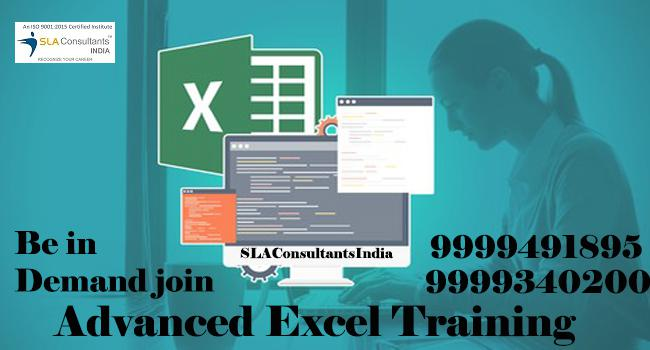 Achieve your goals with advanced excel training institute at