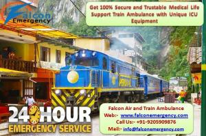 Avail low fare falcon train ambulance in patna with doctor