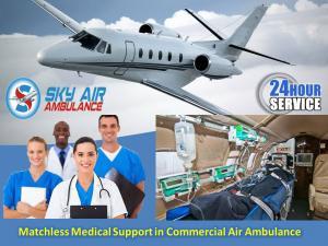 Avail modern micu setup air ambulance service in patna