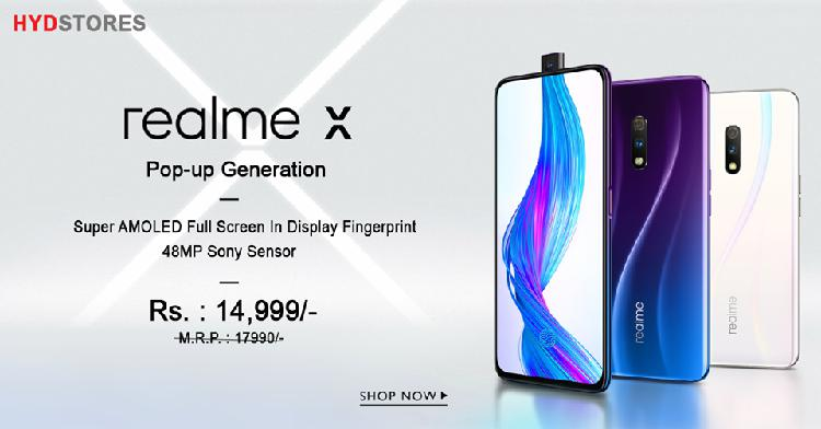 Buy realme x smartphone in hydstores with best price