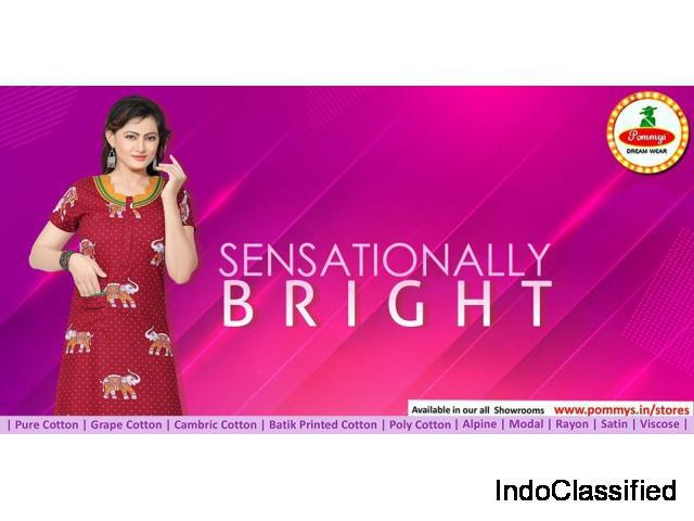 Buy womens cotton branded latest night dress and 100% pure