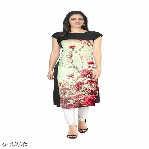Designer crepe kurtis at lowest prices ever