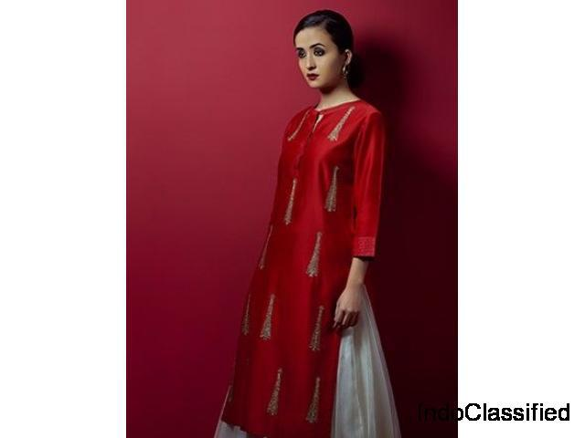 Flat 20% off on designer kurtis, available in sizes upto 6xl