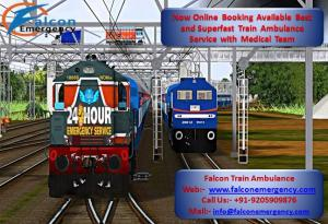 Get reasonable cost train ambulance in dibrugarh