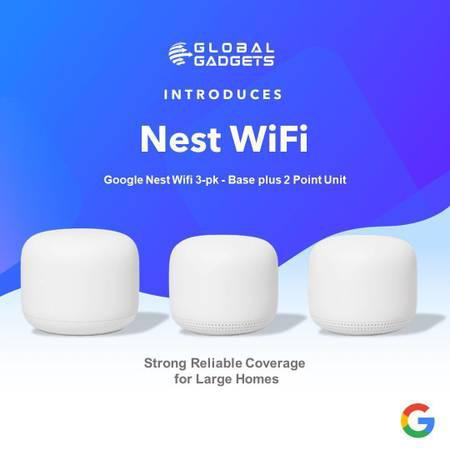 Google nest wifi router and 2 point mesh wi-fi | global