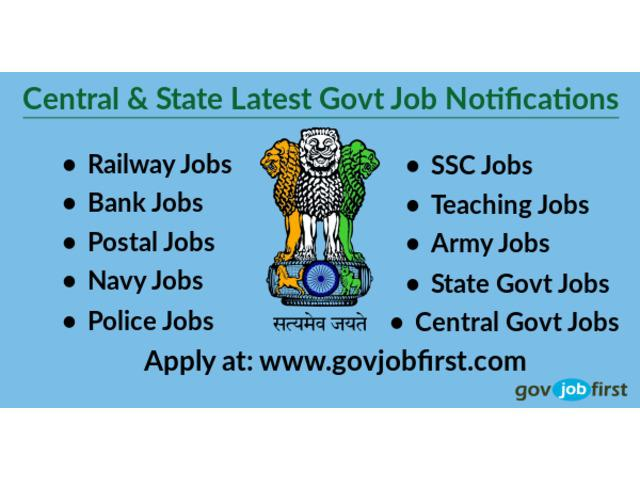 Latest govt job notifications