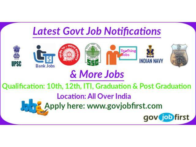Latest govt jobs govjobfirst