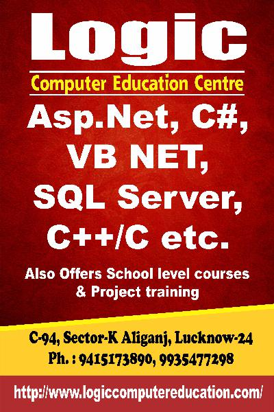 Logic computer education offers c,c++,asp.net,c# sql server