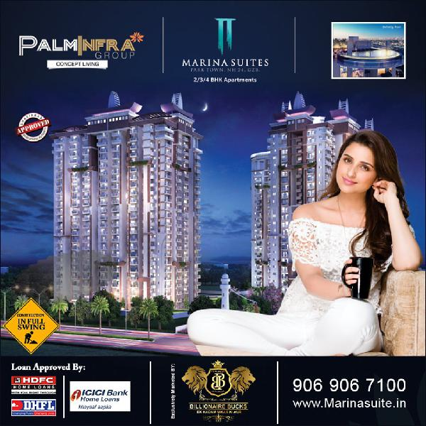 Marina suites by palm infra ghaziabad | call 906 906 7100