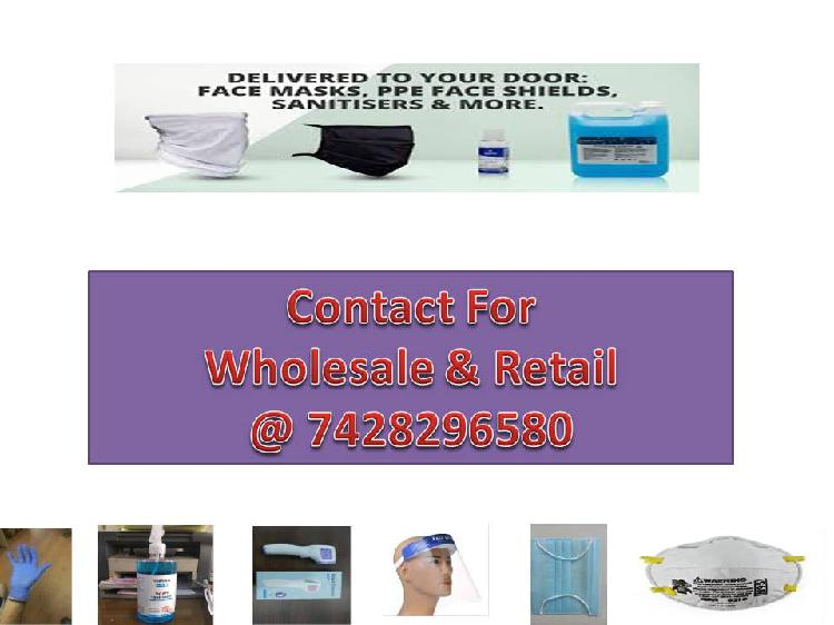 Masks sanitizers and many more