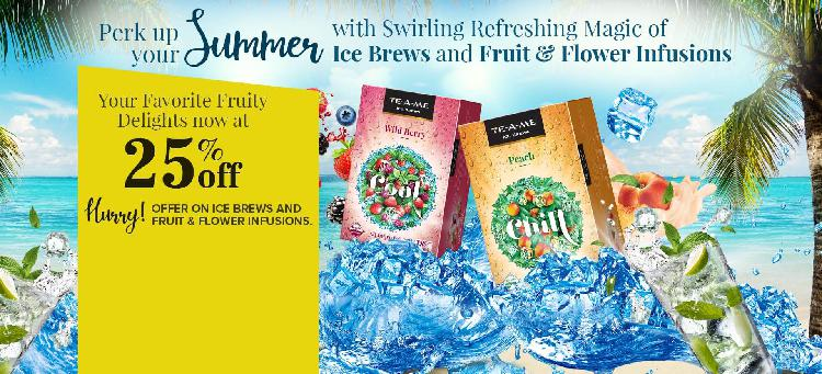 Perk up your summer with flat 25% off on ice brews and fruit