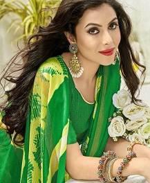 Shangrila designer kota fabrics with printed sarees full
