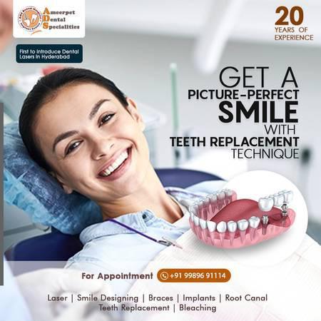 Teeth replacement cost in hyderabad - zirconia crown cost