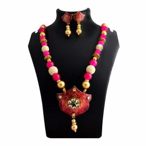 Top rated kundan meena necklace sets online