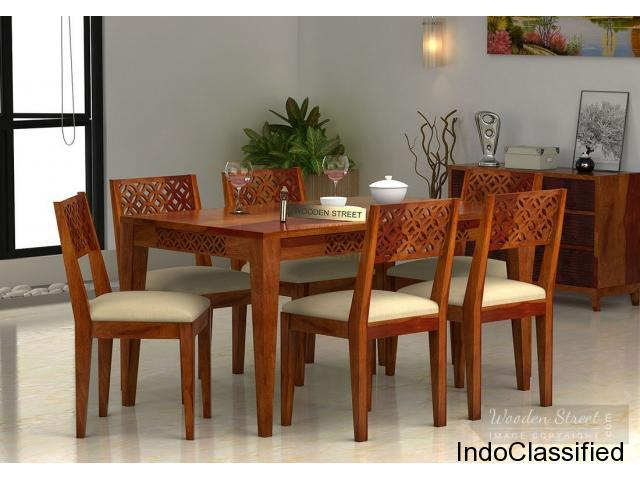 Big sale!! buy solid wood dining table set online @ low