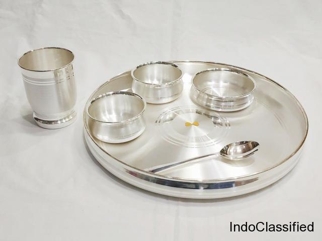 Dinner set – buy dinner set online india   pure silver
