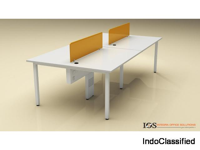 Frosty white single open office workstation for rental,