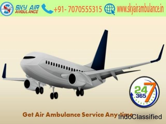 Get top-class air ambulance service in guwahati by sky air