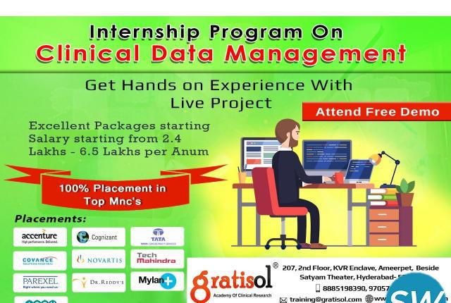 Job oriented clinical data management training with