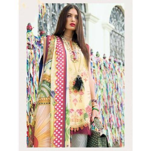 Party and wedding wear cotton short pakistani suit