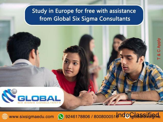 Study masters in europe for free through global six sigma