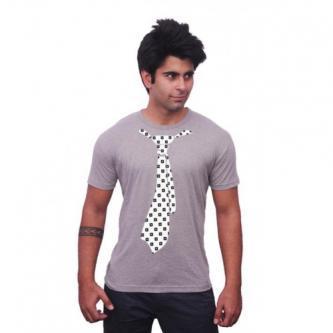 Unisopent designs black box tie cotton t-shirts with grey