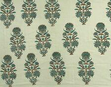 Hand block print cotton voile fabric indian sewing