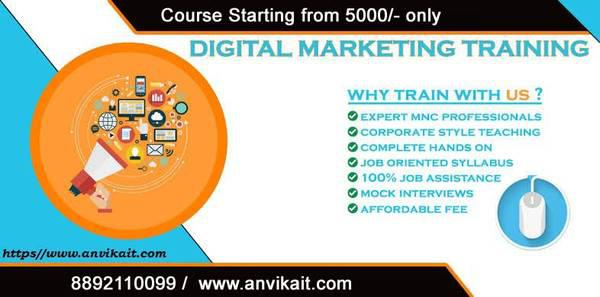 Digital marketing course with job 100 % only 10 seats -