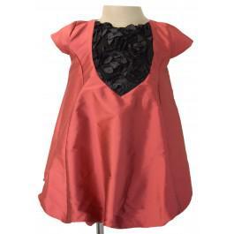 Faye brickred rosette baby dress online shopping