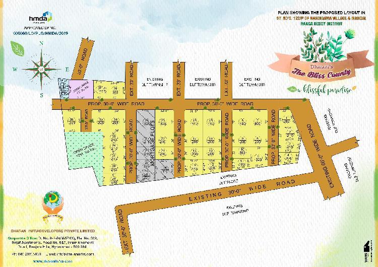 Hmda plots for sales in kothur highway, hyd,india.