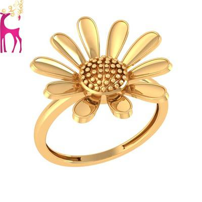 Simple gold ring for ladies