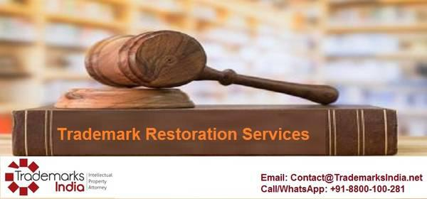 Excellent trademark restoration services by professional law