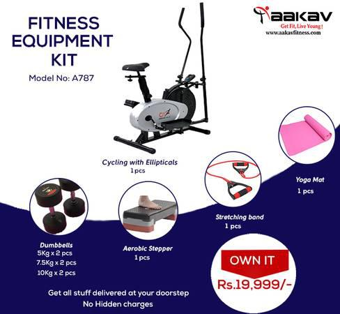 Combo offer fitness equipment kit - 990a - health and beauty