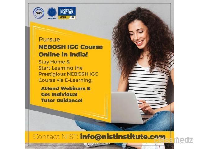 Pursue nebosh igc course online in india! chennai