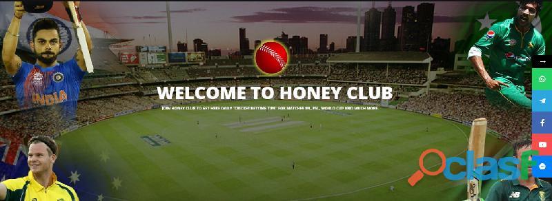 Cricket Match Prediction by Honey Club