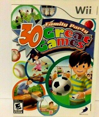 Family party 30 great games wii 4 players