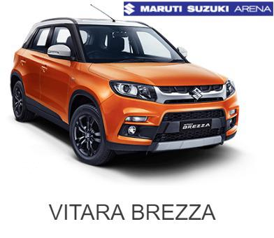 Visit gulzar motors to check on road price of brezza in